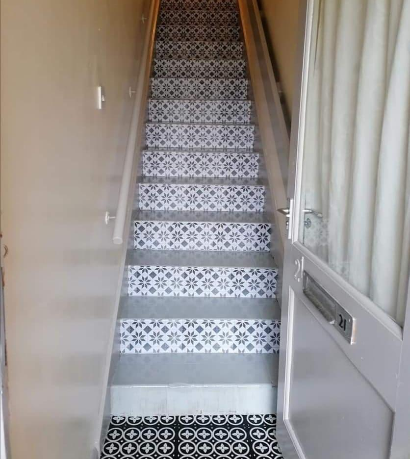 The new stairs make for an inviting first impression. (Supplied latestdeals.co.uk)