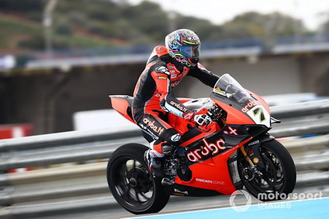 "Chaz Davies, ARUBA.IT Racing Ducati <span class=""copyright"">Gold and Goose / Motorsport Images</span>"