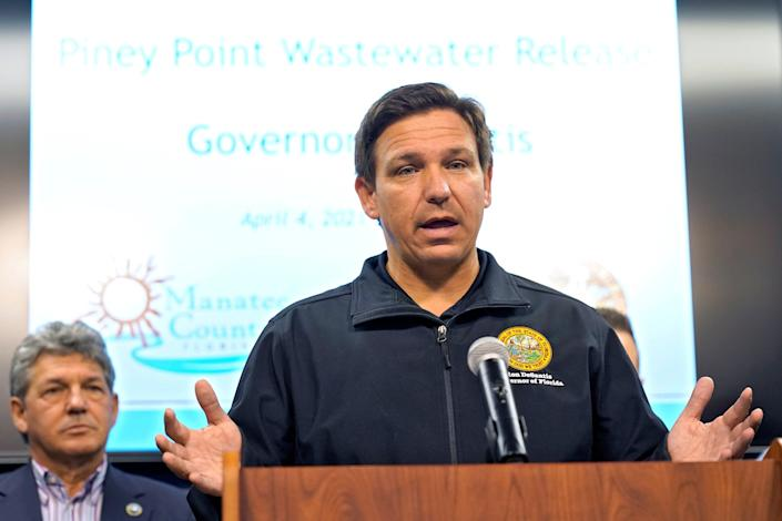 <p>Florida Gov. Ron DeSantis during a news conference earlier this month.</p> ((AP Photo/Chris O'Meara))
