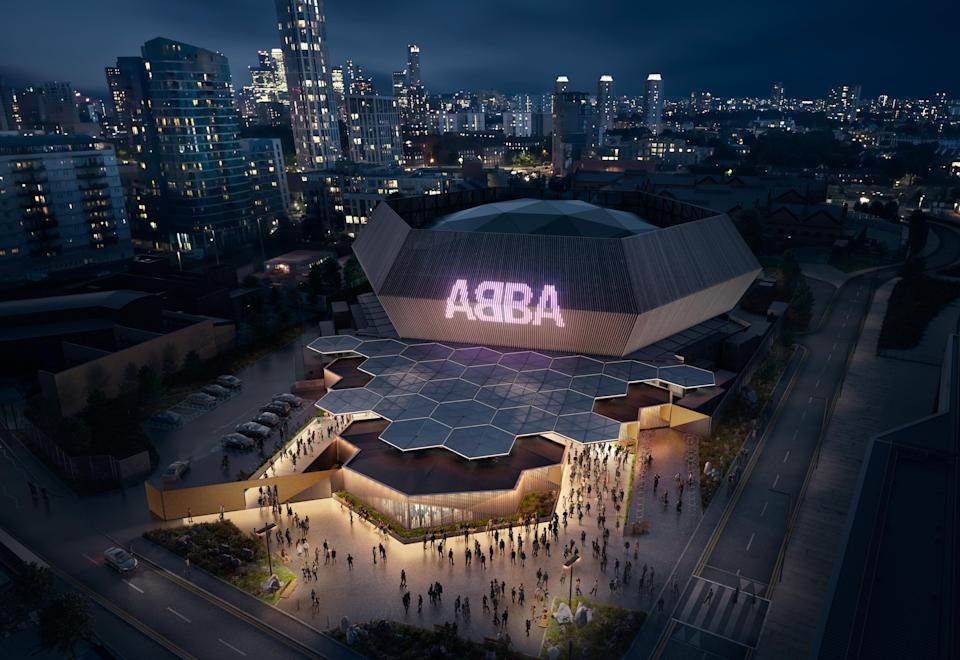 The Abba arena in east London (PA