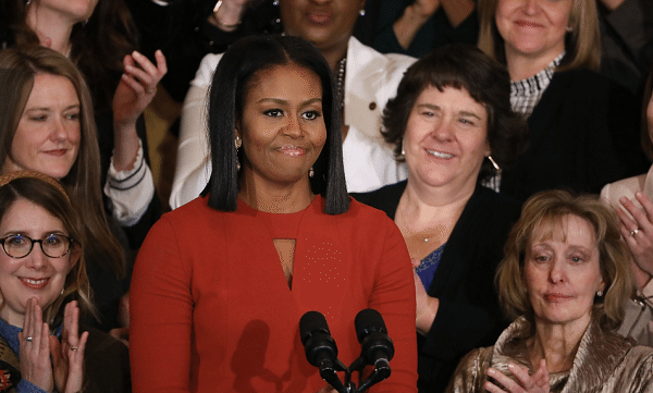 Michelle Obama Surprises Students On International Women's Day