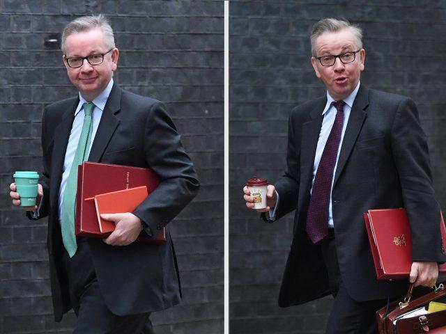 Michael Gove has swapped disposable cups for reusable alternatives