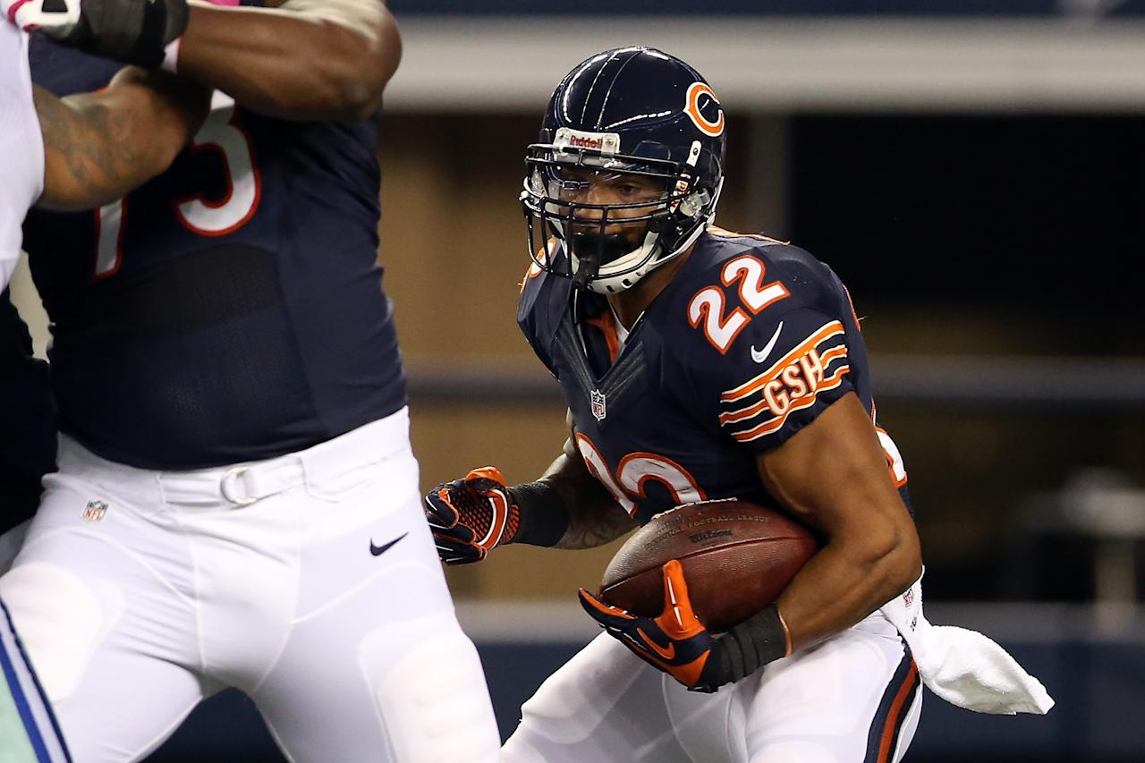 ARLINGTON, TX - OCTOBER 01:  Matt Forte #22 of the Chicago Bears runs the ball in the first haf against the Dallas Cowboys at Cowboys Stadium on October 1, 2012 in Arlington, Texas.  (Photo by Ronald Martinez/Getty Images)