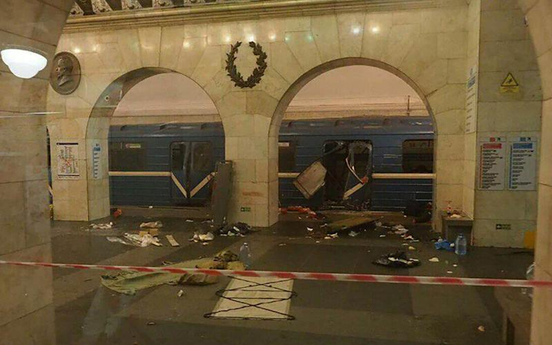 Debris on the ground outside the Metro train - Credit: East2WestNews