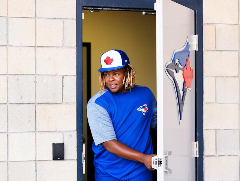 When will the Toronto Blue Jays bring up phenom Vladimir Guerrero Jr.? (Nathan Denette/The Canadian Press via AP)