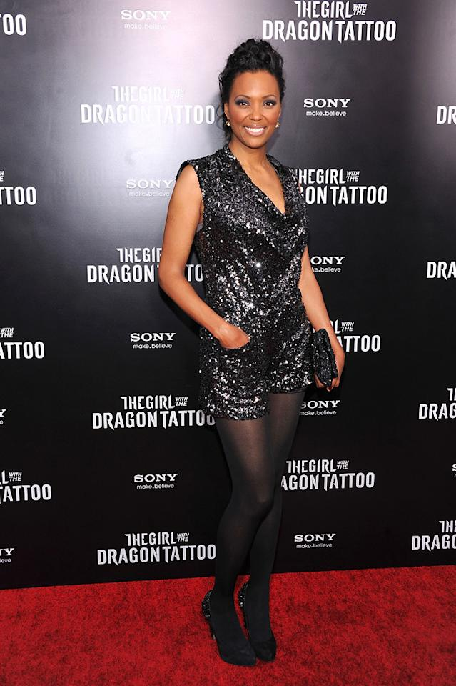 "<a href=""http://movies.yahoo.com/movie/contributor/1804572707"">Aisha Tyler</a> at the New York premiere of <a href=""http://movies.yahoo.com/movie/1810163569/info"">The Girl With the Dragon Tattoo</a> on December 14, 2011."