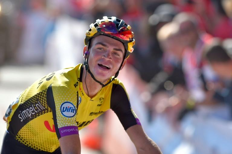 American Sepp Kuss won his first Grand Tour stage Sunday at the Vuelta a Espana