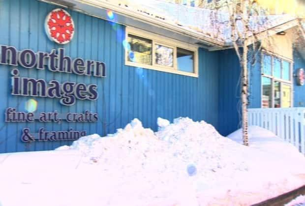 A photo of the Northern Images gallery store front. The gallery made the decision to move online after seeing a decline in travel and not making enough money during the pandemic.  (Eden Maury/CBC - image credit)