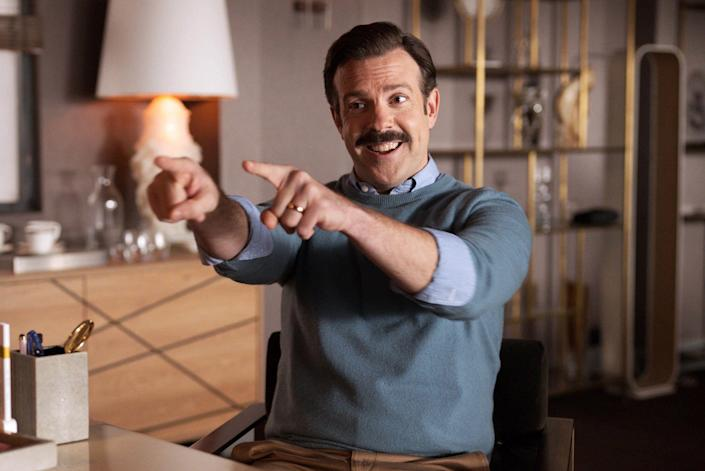 JASON SUDEIKIS in TED LASSO (2020), directed by ZACH BRAFF. Credit: UNIVERSAL TELEVISION / Album (Alamy Stock Photo)