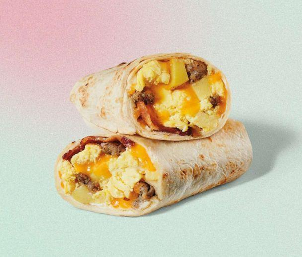 PHOTO: Starbucks' new bacon, sausage and egg wrap with potatoes and cheddar cheese. (Starbucks)