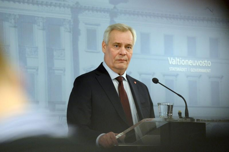 Prime Minister of Finland Antti Rinne gives a news conference on his resignation at the Government Palace in Helsinki