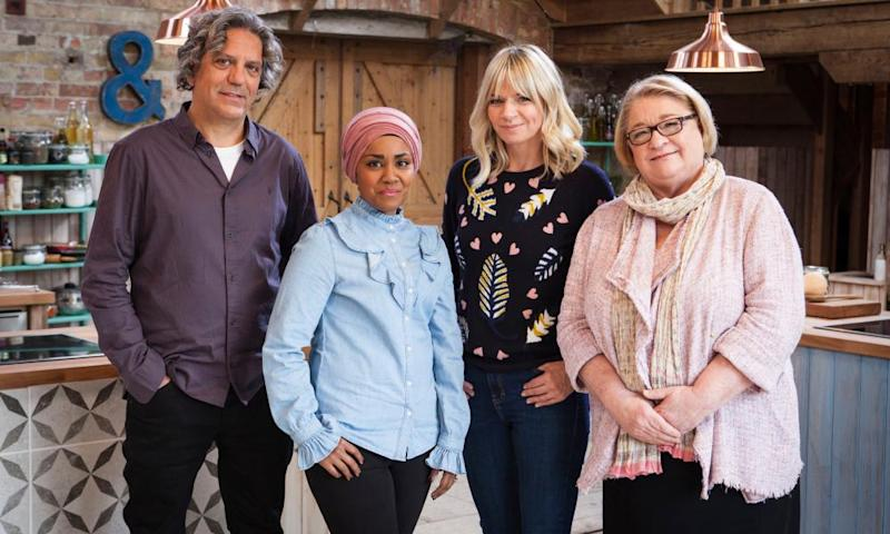 L-R: Giorgio Locatelli, Nadiya Hussain, Zoe Ball and Rosemary Shrager will appear on The Big Family Cooking Showdown.