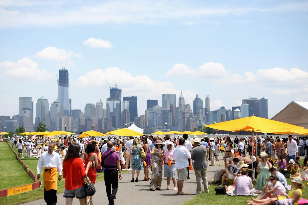 JERSEY CITY, NJ - JUNE 02:  A general view of atmosphere at the fifth annual Veuve Clicquot Polo Classic on June 2, 2012 in Jersey City.  (Photo by Neilson Barnard/Getty Images for Veuve Clicquot Polo Classic)