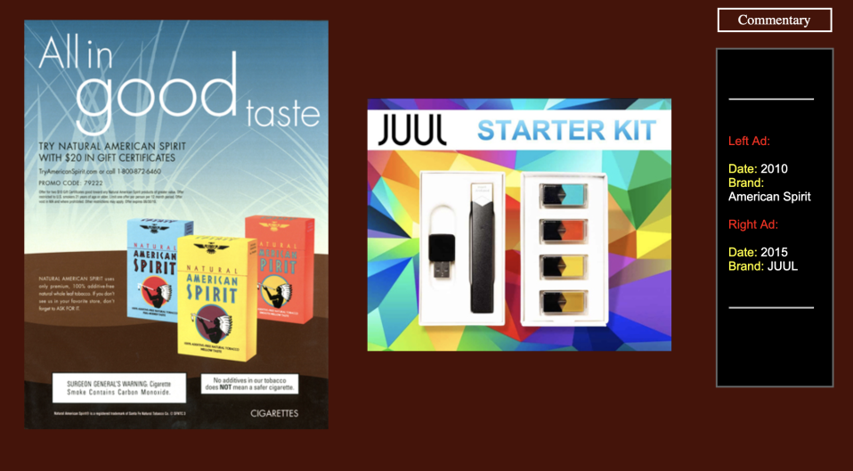 """(Source: """"JUUL Advertising Over its First Three Years on the Market"""" by Stanford Research into the Impact of Tobacco Advertising)"""