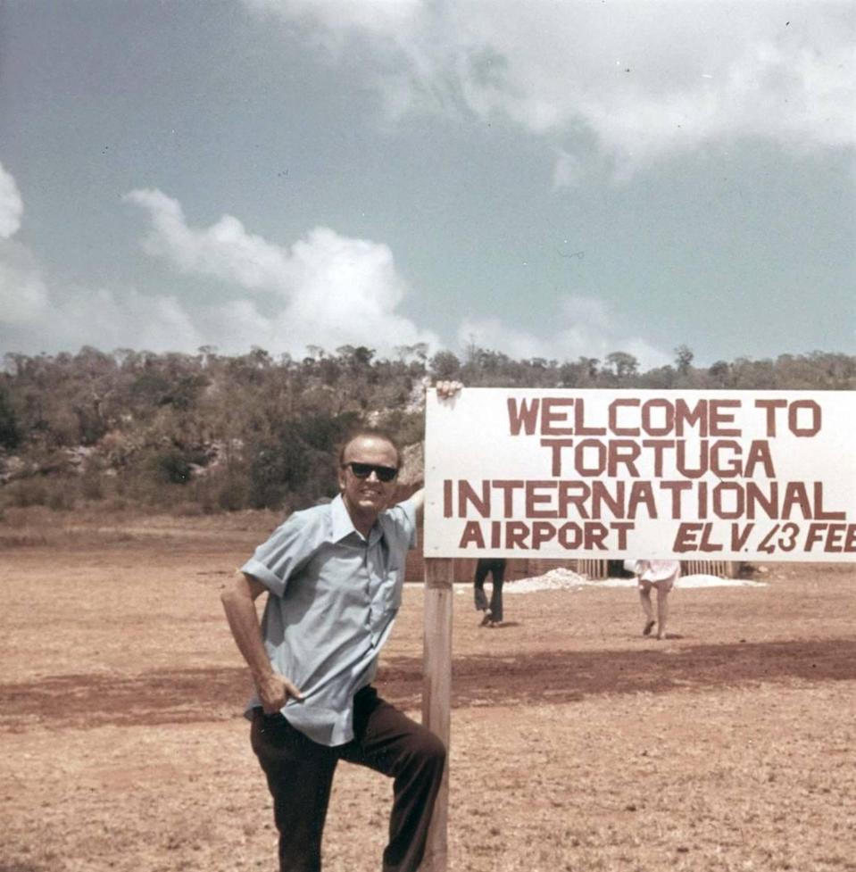 """Don Pierson on Haiti's Île de la Tortue, also known as Tortuga Island, in 1972. After negotiating a 99-year lease with the government of Francois """"Papa Doc"""" Duvalier, Pierson started to build an airport on the island."""