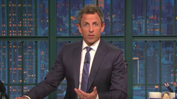 Seth Meyers Is Fed Up With Congress Responding To Gun Violence Only With Prayers