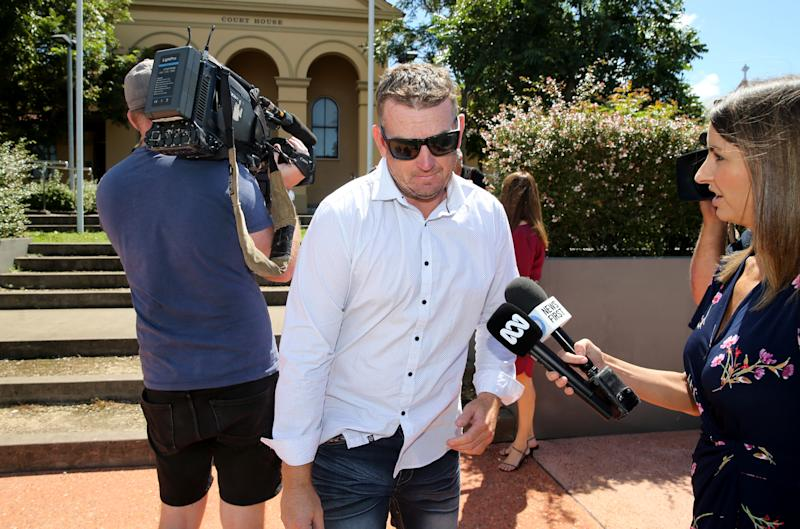 Dean Anderson attends the inquest into William Tyrrell's disappearance at Taree Local Court in Taree, NSW, Thursday, March 12, 2020. William Tyrrell disappeared from a Kendall property belonging to his foster grandparents on September 12, 2014. (AAP Image/Nathan Edwards) NO ARCHIVING
