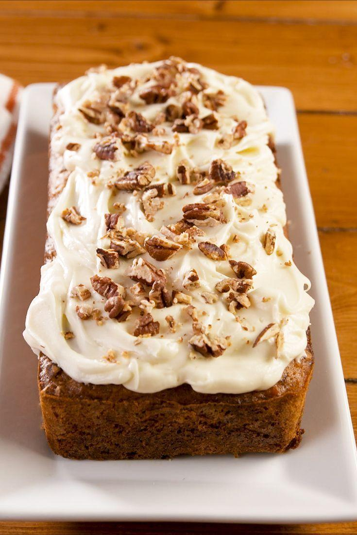 """<p>If you're a fan of classic quick breads like banana and zucchini breads, you'll love this easy to make carrot bread. Serve on its own for a tasty spiced bread or jazz it up with cream cheese frosting for the full carrot cake effect. </p><p><strong><em>Get the recipe at <a href=""""https://www.delish.com/cooking/recipe-ideas/a26882949/carrot-bread-recipe/"""" rel=""""nofollow noopener"""" target=""""_blank"""" data-ylk=""""slk:Delish"""" class=""""link rapid-noclick-resp"""">Delish</a>.</em></strong></p>"""