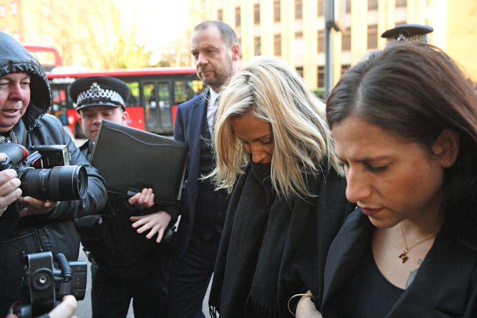 Caroline Flack appeared at Highbury Corner Magistrates' Court this morning. (Joe Giddens/PA Wire)
