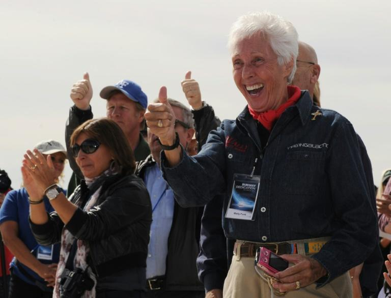 The flight will make Wally Funk the oldest person ever to travel in space