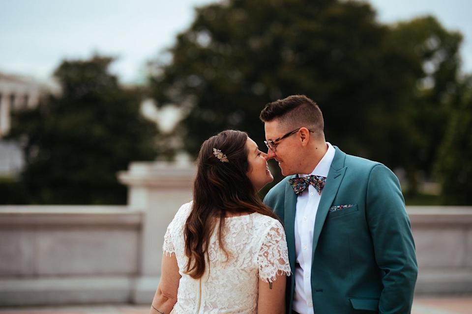 """The two said the decision to cancel their original wedding was difficult but ultimately the right choice. (Photo: <a href=""""https://shawneecustalow.com/"""" target=""""_blank"""">Shawnee Custalow</a>)"""