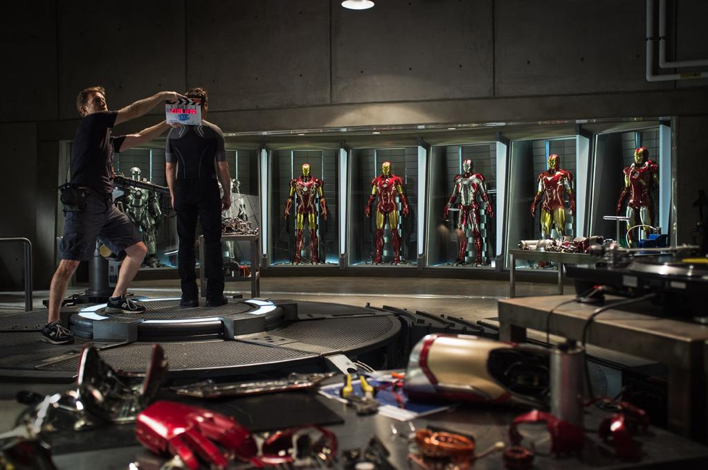 """Robert Downey Jr. on the set of Paramount Pictures' """"Iron Man 3"""" - 2013"""