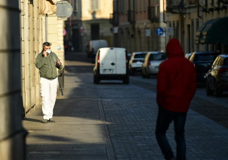 Streets were largely deserted in the small Italian town of Codogno