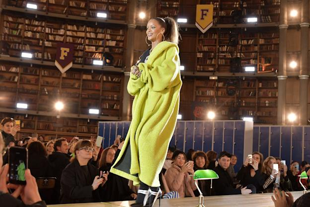 Rihanna on the catwalkFenty Puma by Rihanna show, Autumn Winter 2017, Paris Fashion Week, France - 06 Mar 2017