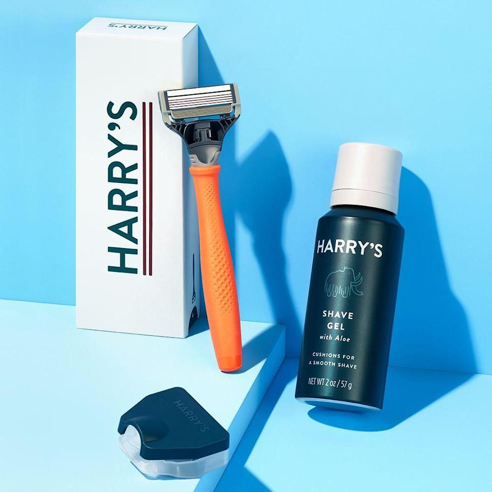 """<p><strong>Harry's</strong></p><p>harrys.com</p><p><strong>$13.00</strong></p><p><a href=""""https://go.redirectingat.com?id=74968X1596630&url=https%3A%2F%2Fwww.harrys.com%2Fen%2Fus%2Fsignup%2Fcustomize&sref=https%3A%2F%2Fwww.bestproducts.com%2Flifestyle%2Fg32259359%2Flast-minute-fathers-day-gifts%2F"""" rel=""""nofollow noopener"""" target=""""_blank"""" data-ylk=""""slk:Shop Now"""" class=""""link rapid-noclick-resp"""">Shop Now</a></p><p>Everything Dad needs for a smooth, no-knick shave comes in this affordable starter set from Harry's. </p><p>A sleek razor with a weighted rubberized handle, five-blade razor cartridge, and foaming shave gel are all included within its under-$10 price, but if your budget allows, you can add ongoing blade and shave-gel refill subscriptions to keep his stash stocked.</p>"""