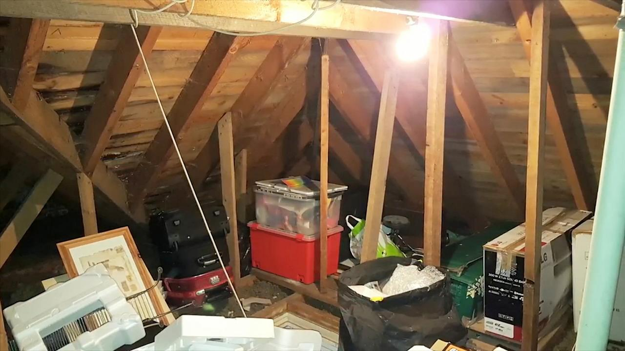 <p>The loft space in Graham's house in Brechin was a typical jumble of long-forgotten cardboard boxes, stack and store boxes and other detritus. </p>