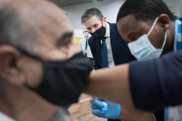 Labour leader Sir Keir Starmer, who visited a community pharmacy vaccination centre at Asda Watford Supercentre on Thursday, said 'this lockdown should be the last'