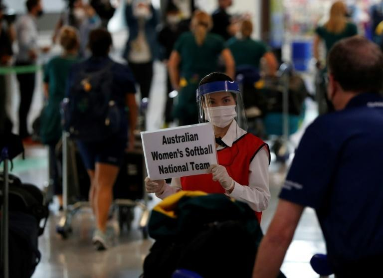 The team faces strict virus measures while in Japan