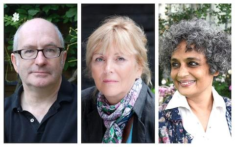 From left: John Lanchester, Kate Atkinson, Arundhati Roy - Credit: Andrew Crowley/ Jay Williams/PA