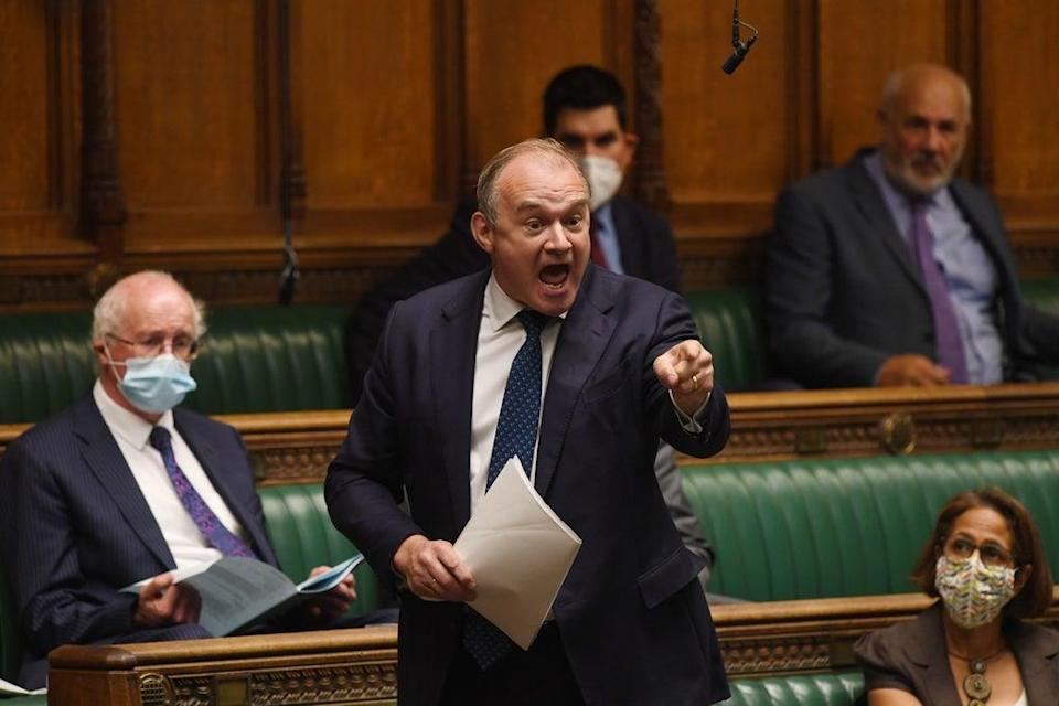Ed Davey  said local people should be allowed to block housing developments – but denied that meant less housebuilding  (PA)