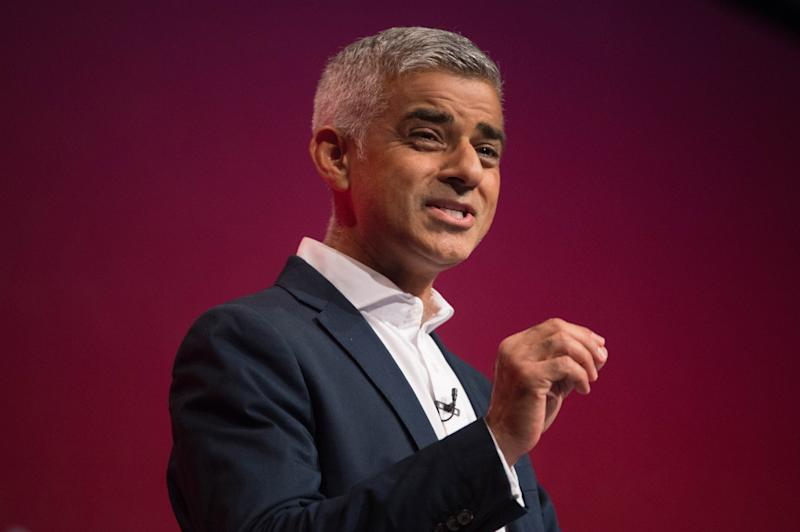 "File photo dated 25/09/17 of Mayor of London Sadiq Khan, who has called Donald Trump ""the poster boy for the far-right around the world""."