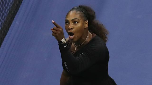 "Serena Williams acted with ""grace and class"" during her umpire dispute in the US Open final against Naomi Osaka, says Stephen Curry."
