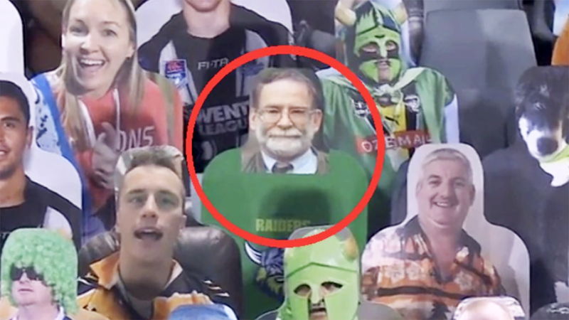 Dr Harold Shipman, pictured here in the crowd at an NRL game.