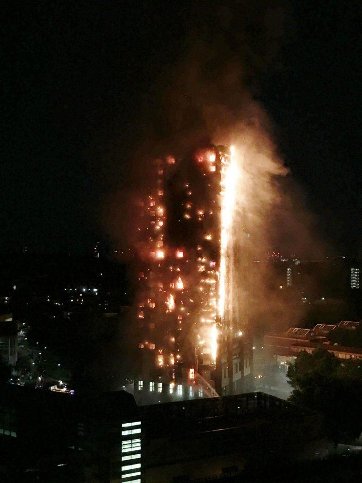 A boy carried his disabled mother from the top floor of Grenfell Tower to save her from the blaze