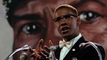 <p> American Muslim minister and human rights activist, Malcolm X is played by none other than Denzel Washington in this movie biography of his life. Director Spike Lee has joked that both he and Washington would have fled the country if the film had fell flat, but fortunately for the pair it had quite the opposite reception, with Washington bagging an Oscar nod for his performance. </p>