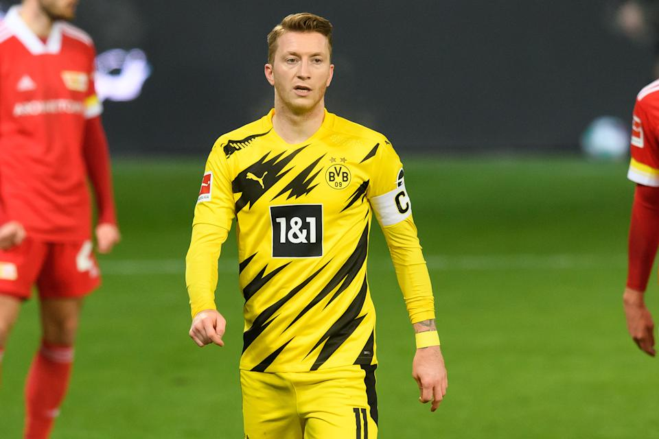 Reus pelo Dortmund na temporada 2020/2021. Foto: Mario Hommes/DeFodi Images via Getty Images