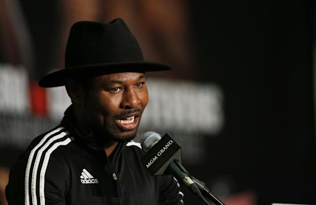 Shane Mosley talks to the media during a 2016 news conference. (Reuters)