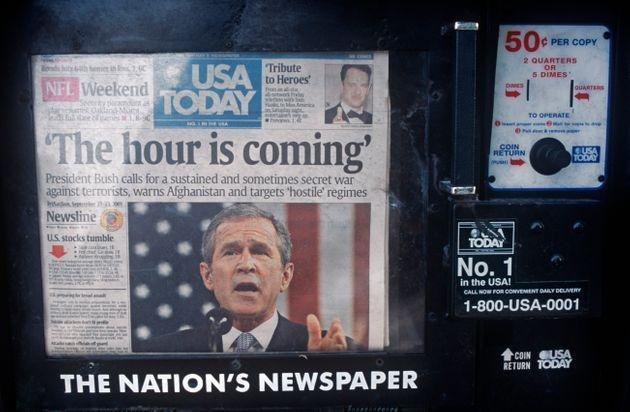 A week after the 9/11 terrorist attacks, the headline on the front page of USA Today ran a quote from then-President George W. Bush —