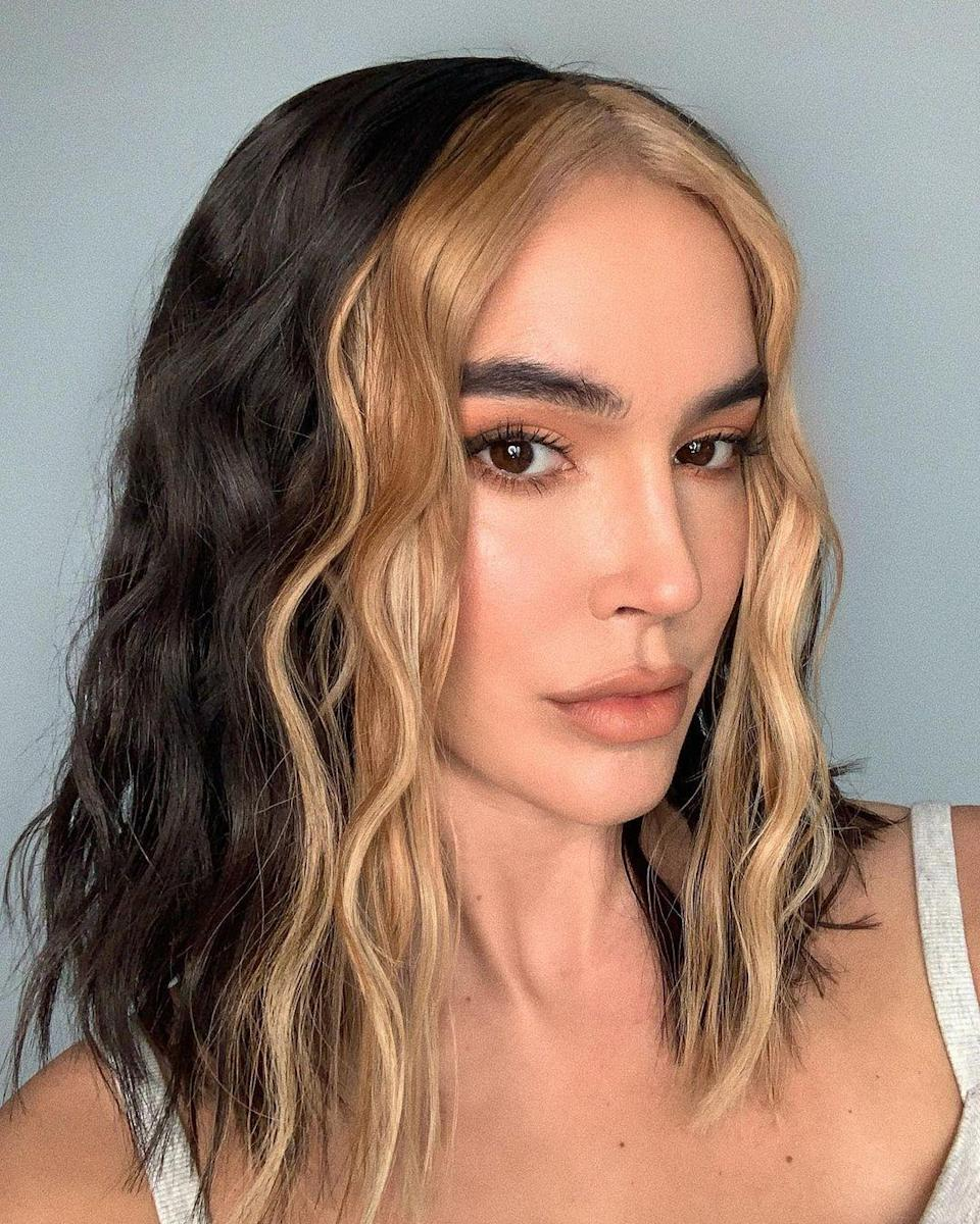"""""""This look has a big impact without having to color your entire head,"""" says Powell. """"I think this technique could work for anyone based on the shade you want for the front, and what you feel comfortable with."""" While blonde or light brown is a good starting point, you can also be bold and play with fun colors like blue, burgundy, and pink."""