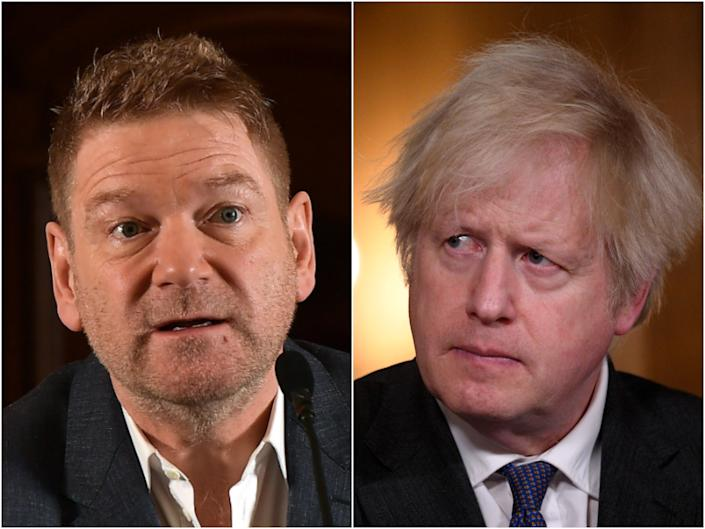 Kenneth Branagh is set to play Boris Johnson in the forthcoming Sky Original series This Sceptered Isle (Getty)