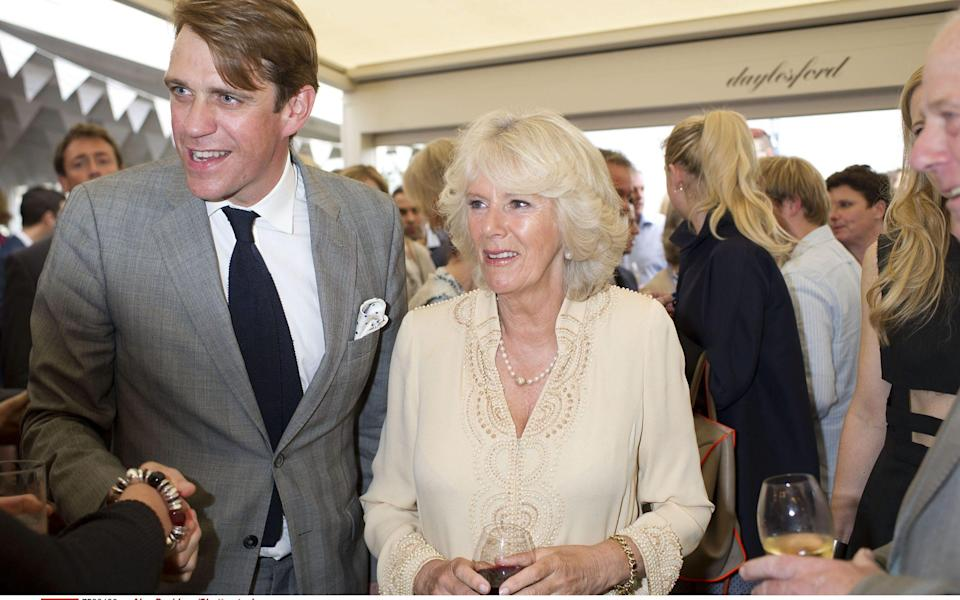 Ben Elliot with his aunt, the Duchess of Cornwall