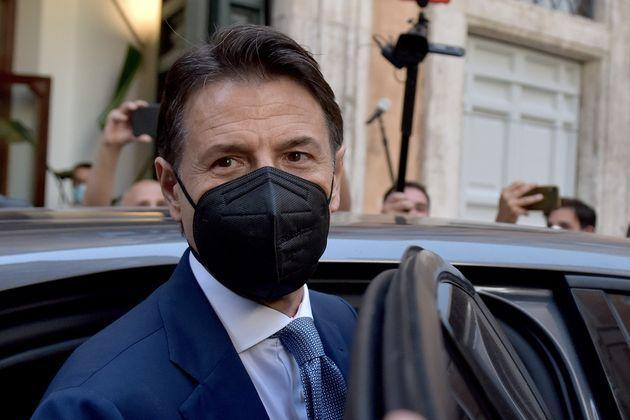 ROME, ITALY - JUNE 28:  Former Prime Minister Giuseppe Conte leaves the  press conference at the Tempio di Adriano on the future of the Five Star Movement, his leadership project and the problems with sponsor Beppe Grillo on June 28, 2021 in Rome, Italy.  (Photo by Simona Granati - Corbis/Getty Images) (Photo: Simona Granati - Corbis via Getty Images)