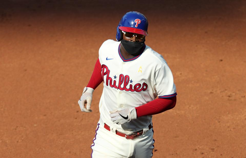 PHILADELPHIA, PA - SEPTEMBER 08: Didi Gregorius #18 of the Philadelphia Phillies during a game against the Boston Red Sox at Citizens Bank Park on September 8, 2020 in Philadelphia, Pennsylvania. The Phillies won 6-5. (Photo by Hunter Martin/Getty Images)