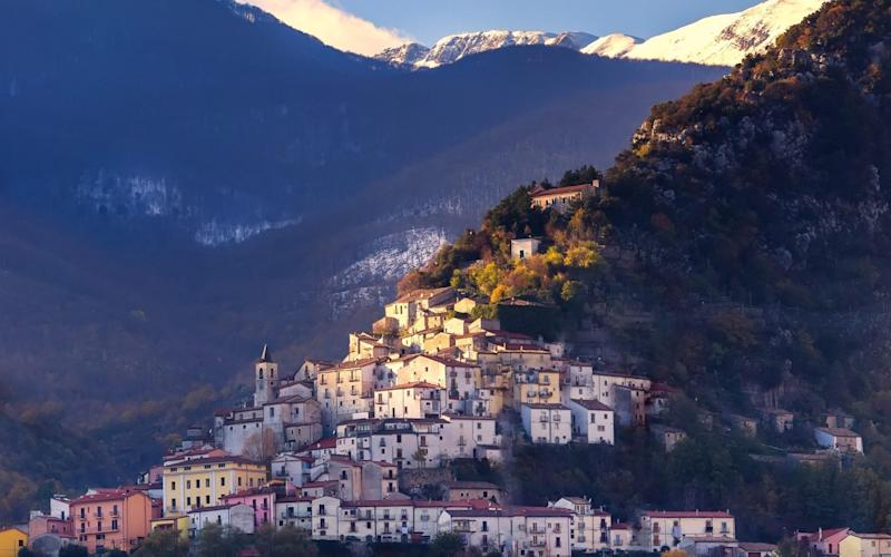 A hilltop village in Molise, a small region in the south of Italy - www.alamy.com