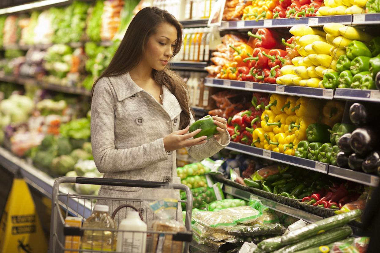"""The adage that the more you do something, the better you get at it doesn't just apply to mental focus or running a mile. Food shopping, too, is a skill, and when you practice it, you start to learn how much different foods cost and can spot true deals. So, consider divvying up other household duties but <a href=""""http://plma.com/2013PLMA_GfK_Study.pdf"""" rel=""""nofollow noopener"""" target=""""_blank"""" data-ylk=""""slk:designating one person"""" class=""""link rapid-noclick-resp"""">designating one person</a> to be the official grocery shopper. That way, she or he will be able to develop the skills needed to be a better shopper (<a href=""""http://www.rd.com/slideshows/supermarket-tricks/#slideshow=slide4"""" rel=""""nofollow noopener"""" target=""""_blank"""" data-ylk=""""slk:and not just to remember the price of these four items"""" class=""""link rapid-noclick-resp"""">and not just to remember the price of these four items</a>)."""