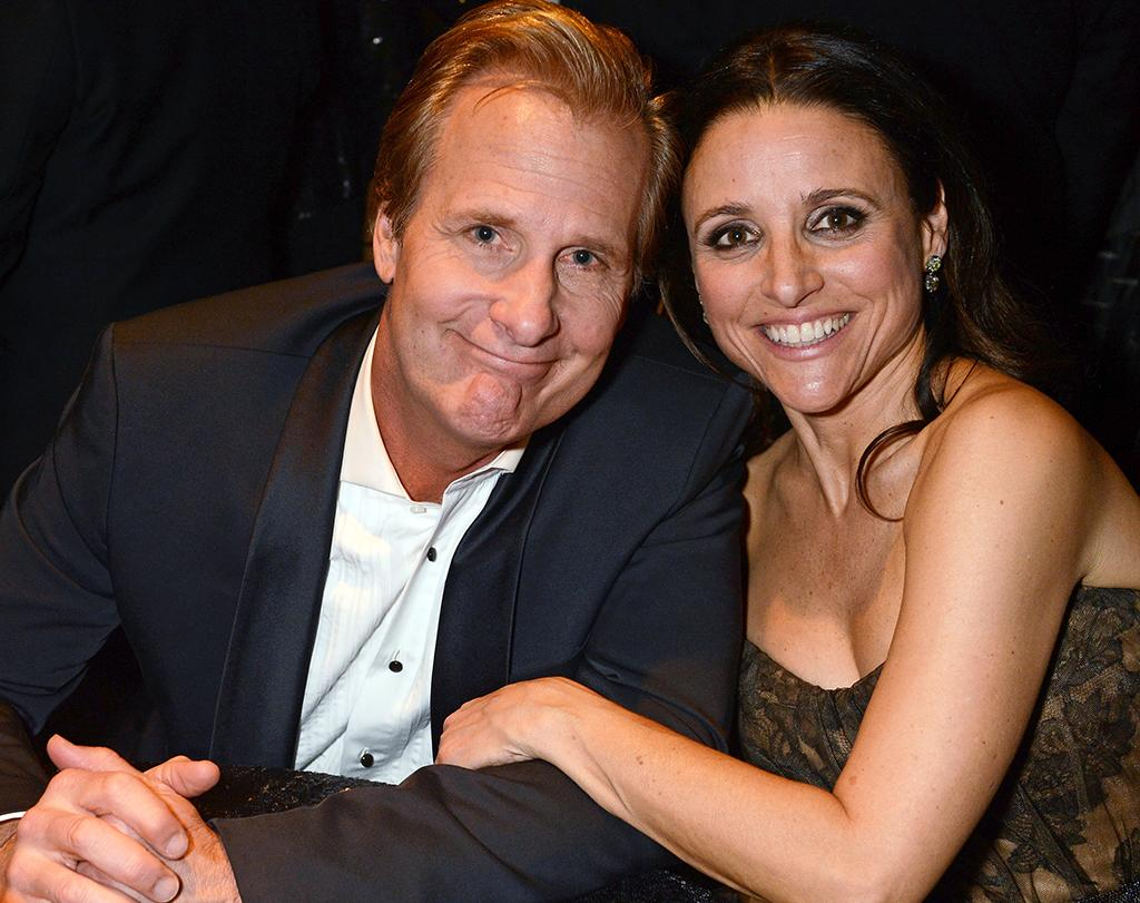Jeff Daniels and Julia Louis-Dreyfus attend HBO's Official Golden Globe Awards After Party held at Circa 55 Restaurant at The Beverly Hilton Hotel on January 13, 2013 in Beverly Hills, California.